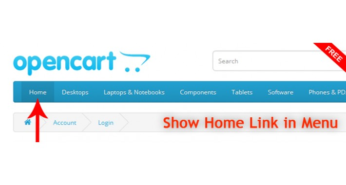 Show Home Link in Menu