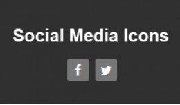 Add Social Media Icons (facebook and twitter) in..