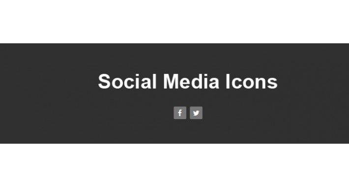 Add Social Media Icons (facebook and twitter) in footer
