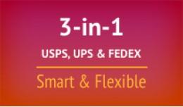 3-in-1 USPS, FedEx, UPS Smart & Flexible