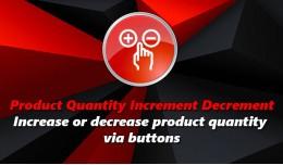 Product Quantity Increment Decrement