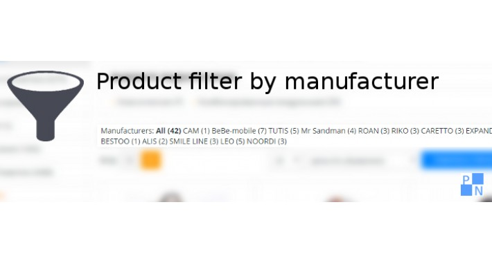 Product Filter by Manufacturer (Category page)