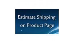 Estimate Shipping on Product Page