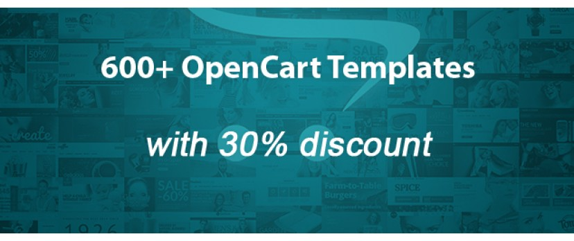 Get Your 30% Discount on Premium OpenCart Templates