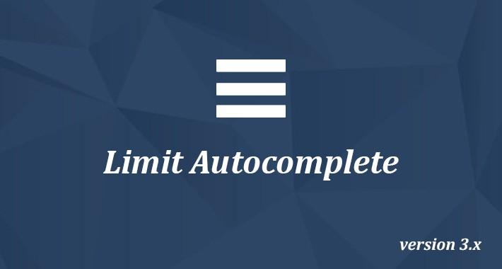 Limit Autocomplete