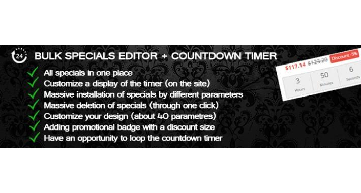 Bulk Specials Editor + The Countdown Timer (OC 2.x-3.x)
