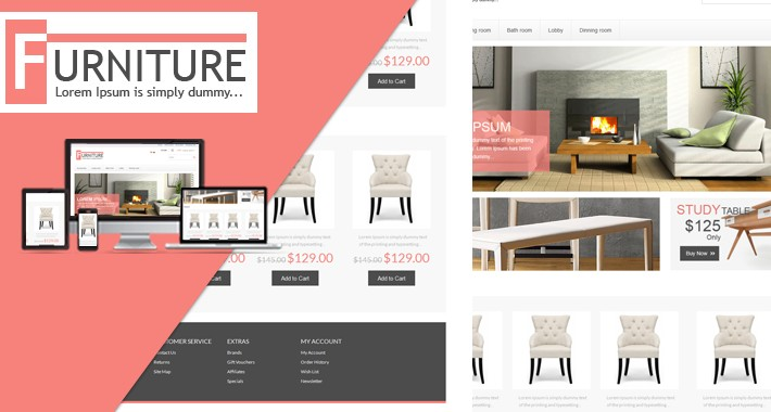 Furniture OpenCart  Template