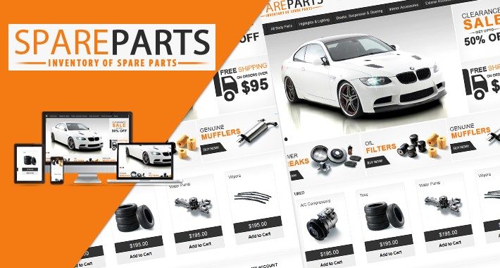 Opencart Spare Parts theme