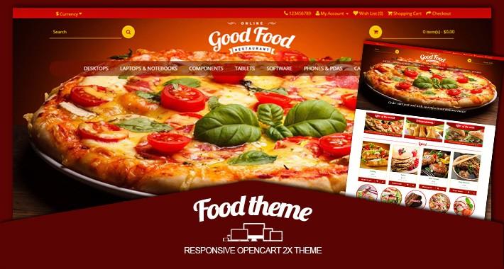 Food responsive opencart 2X theme