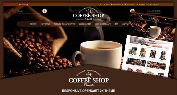 Coffee responsive opencart theme 2x