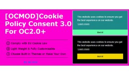 [OCMOD]Cookie Policy Consent 3.0 For OC2.0+