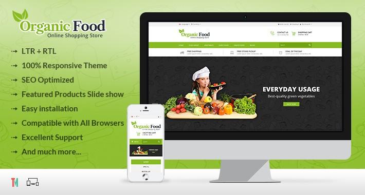 Organic Food Opencart Theme - OPCADD018