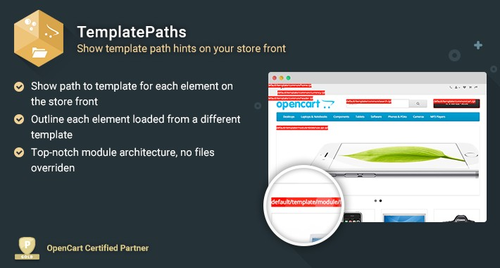TemplatePaths - OpenCart Template Path Hints