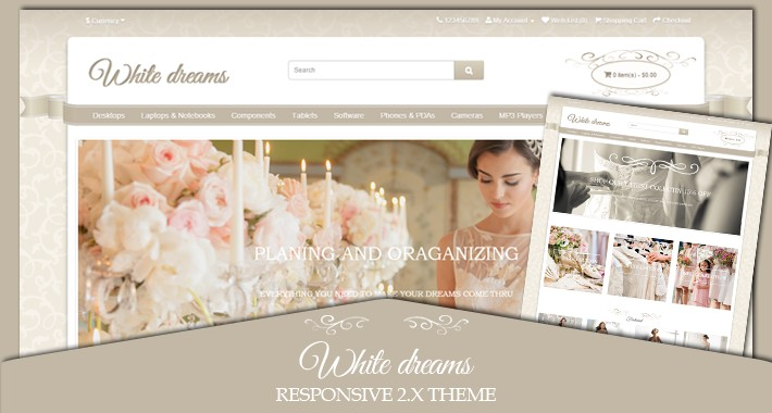 White dreams responsive wedding 2.X theme