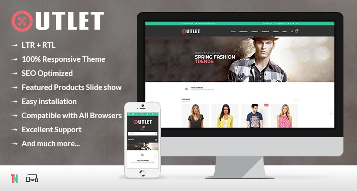 Outlet Opencart Theme - OPCADD010