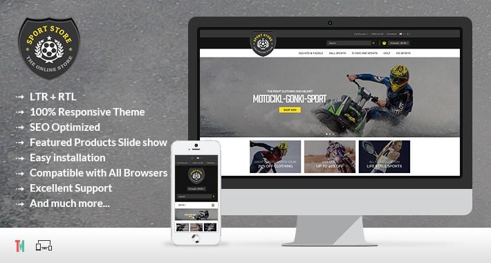 Sport Opencart Theme - OPCADD004