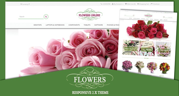 Flowers responsive opencart 2.x theme