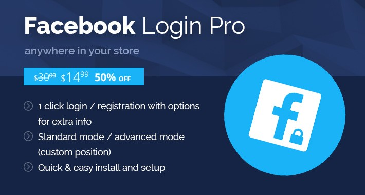 Facebook Login PRO - Anywhere in Your Store -  OC2.x-3.x
