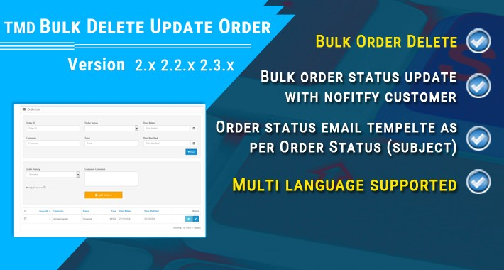 Order Status update and delete