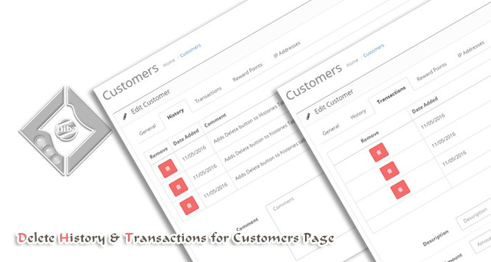 Add Delete Buttons To Customer Transaction and History
