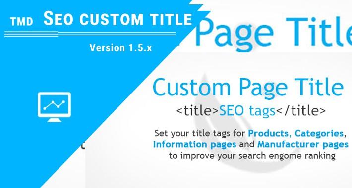 SEO Custom title (Multilanguage supported)