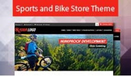 Sports and Bike Store Opencart Theme