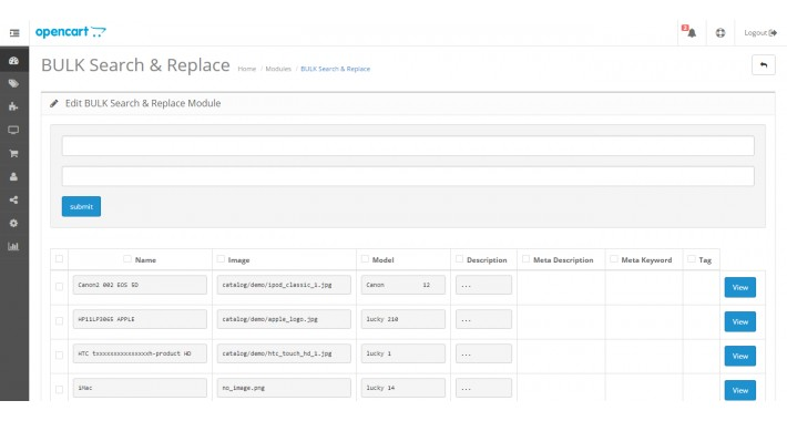 Bulk Search & Replace Products