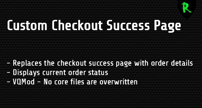 OpenCart - Custom Checkout Success Page
