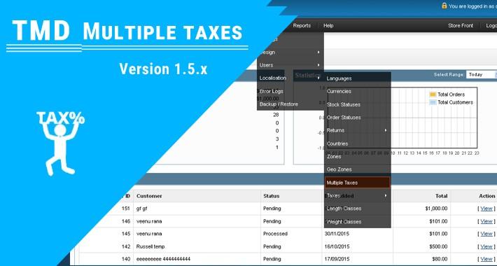 Multiple Taxes module