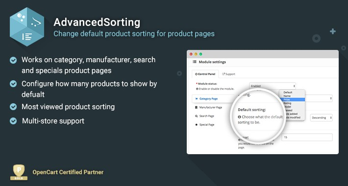 Advanced Sorting - Change default sorting for Product Pages