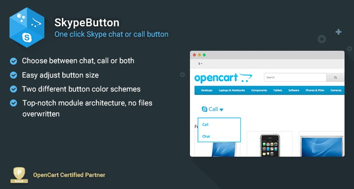 SkypeButton - Skype Chat/Call Button