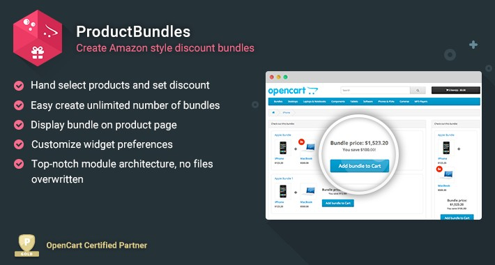 Product Bundles - Create Amazon style discount bundles