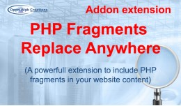 PHP Fragments Replace Anywhere