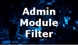 Admin Module Filter