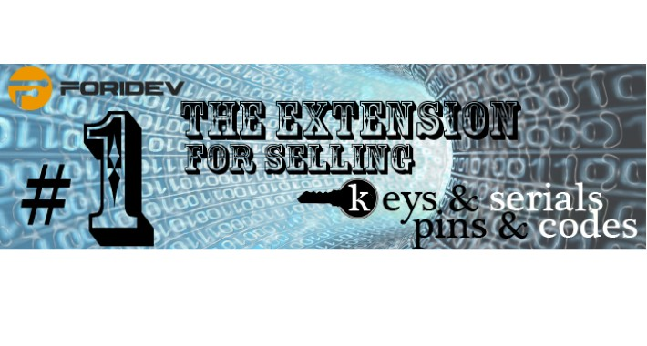 Serials & Keys, Pins & Codes Sale Extension