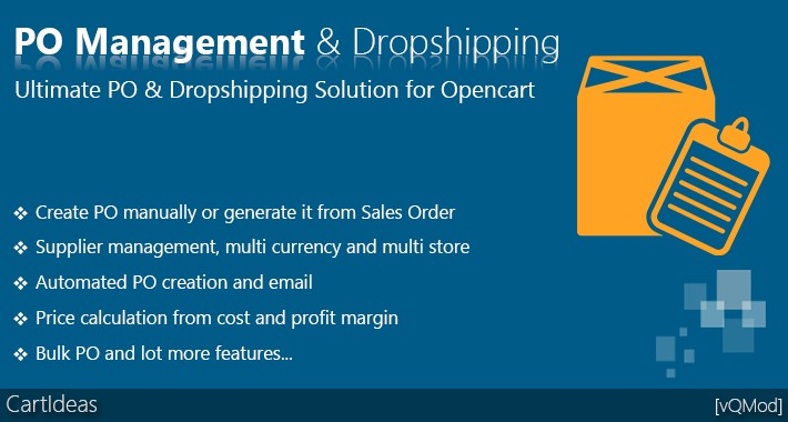 Complete Purchase Order Management and Dropshipping Solution