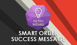 Smart Order Success Message