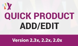 Quick Product Add / Edit -  3x / 2x
