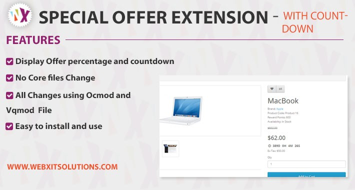 Specials offer extension with Countdown