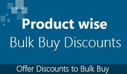Product wise bulk buy discount