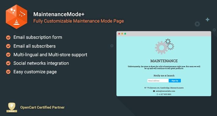 Maintenance Mode+ - Fully customizable maintenance mode page