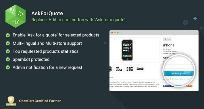 Ask For Quote - Replace Add to cart with Ask for a quote