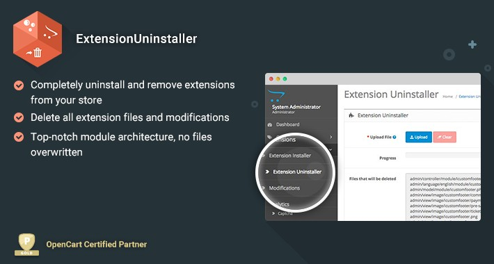 ExtensionUninstaller - Safely remove extensions from your store