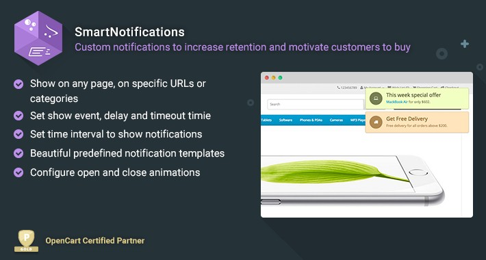 Smart Notifications - Motivate customers to buy