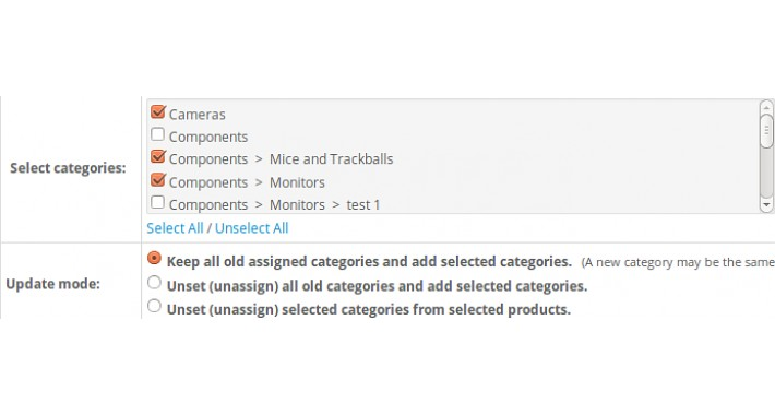 MASS products update: Categories