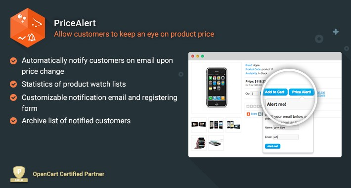 Price Alert - Allow Customers to Keep an Eye on Product Price