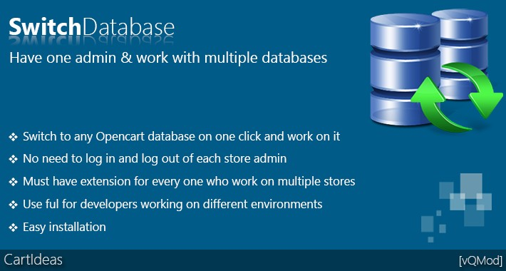 Switch Database - Switch between Opencart databases