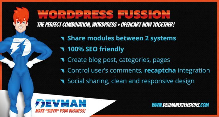 Wordpress Fusion - Opencart Blog SEO