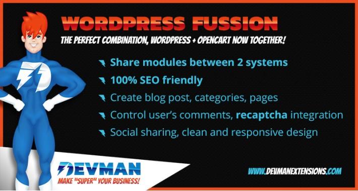 Wordpress Fusion - Opencart Blog SEO