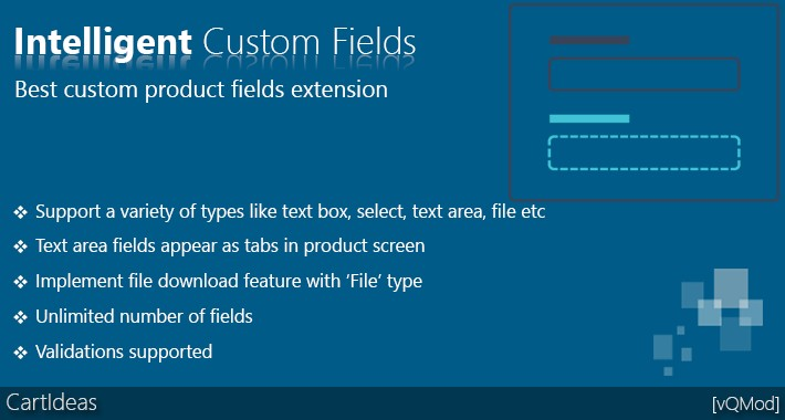 Intelligent Custom Fields and Tabs for Products